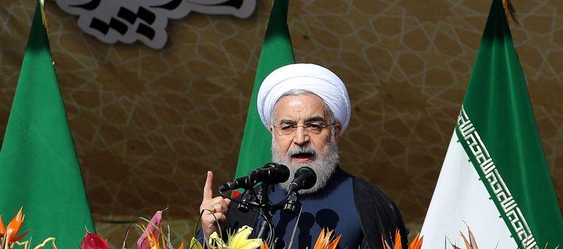 Le président iranien Hassan Rohani le 11 février 2016 à Téhéran.
