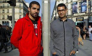 Abdellah Boudor et Rachid Santaki, le 28 août 2013 à Paris.