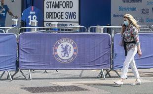 Photo prise devant Stamford Bridge, le stade de Chelsea, le 22 mai 2020.
