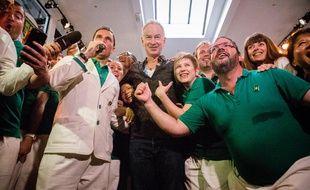 John McEnroe lors d'une opération promotionnelle pour We Are Tennis le 27 mai 2016.