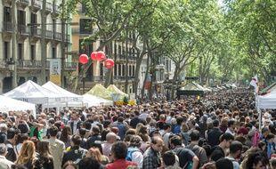Sur la Rambla, à Barcelone, le 23 avril 2017.