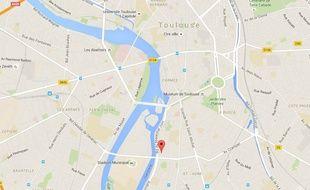 Le dramatique accident a eu lieu à l'angle du boulevard des Recollets et de la rampe du Belvédère.