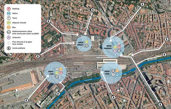 Le futur quartier de la gare Matabiau.