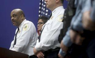 Eddie Johnson, le chef de la police de Chicago, lors d'une conférence de presse, dimanche 2 avril 2017.