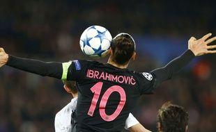Zlatan Ibrahimovic lors du match entre le PSG et Malmö le 8 décembre 2015.