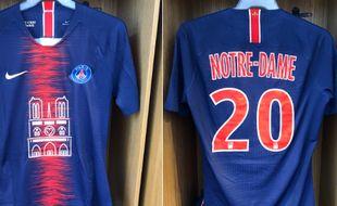 Le maillot du PSG en hommage à Notre-Dame.