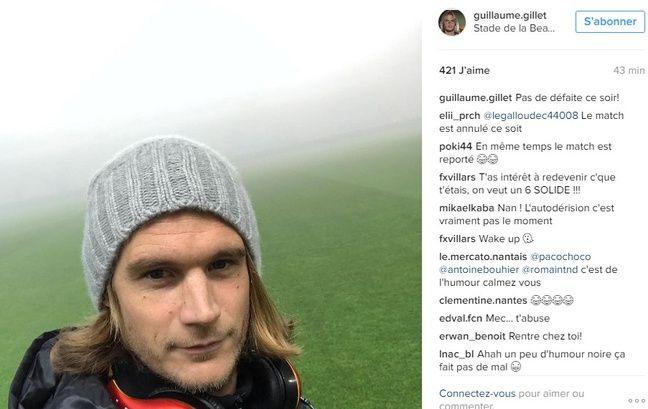 Le message de Gillet sur Instagram.