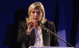 Meeting de Marine Le Pen, présidente du Front national, pour soutenir Eric Dillies, candidat du FN à Lille.