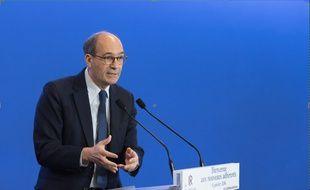 Eric Woerth, le 9 janvier 2016 au siège parisien du parti Les Républicains.