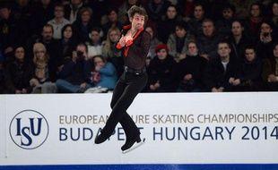 Brian Joubert à l'Euro 2014 à Budapest, le 18 janvier 2014.