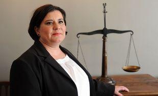 Emmanuelle Legrand-Bogdan, est l'avocate de Christophe Camy, un des 4 prévenus au procès. / AFP PHOTO / IROZ GAIZKA