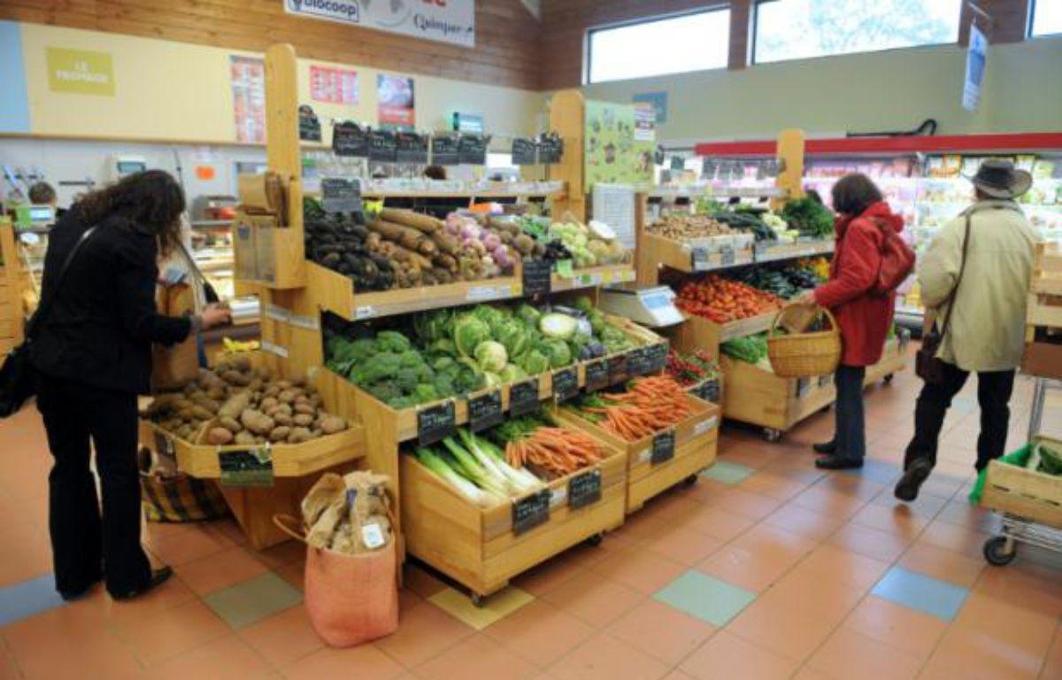 Un magasin Biocoop à Quimper, le 18 mai 2012 – FRED TANNEAU AFP