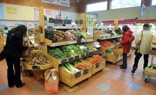 Un magasin Biocoop à Quimper, le 18 mai 2012