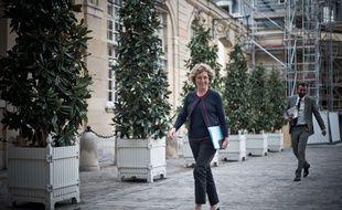 La ministre du Travail Muriel Pénicaud arrive à Matignon le 17 octobre 2017.