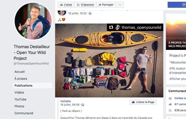 Canada: Un kayakiste français qui voulait «réconcilier l'homme et la planète» trouve la mort