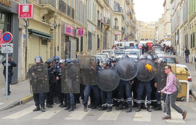 Manifestation contre la loi travail à Marseille.