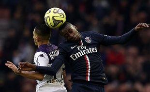 Blaise Matuidi lors du match entre le PSG et Toulouse le 21 février 2015.