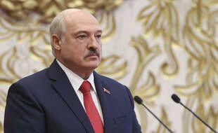 Le président biélorusse Alexandre Loukachenko lors de sa prestation de serment, le 23 septembre 2020.