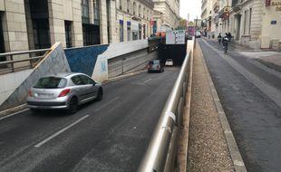 L'entrée du tunnel de la Comédie, sur le boulevard Victor-Hugo.