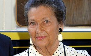 Simone Veil, le 31 août 2006 à Paris pour le lancement du livre de Vladimir Fedorovski