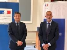 Jacques Boulard, premier président de la cour d'appel de Toulouse, et Franck Rastoul, procureur général.