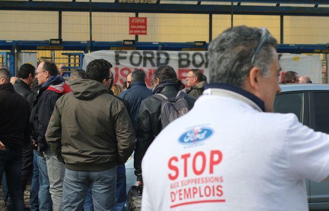 Débrayage chez Ford à Blanquefort le 5 mars 2018, après l'annonce de l'industriel de se désengager du site