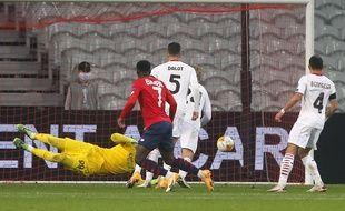 Bamba a égalisé contre le Milan AC