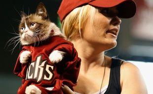 Grumpy Cat et sa maîtresse en Arizona le 7 septembre 2015.