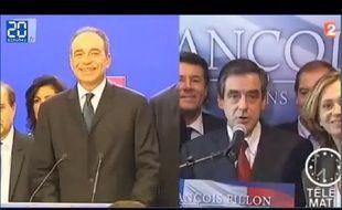 Zapping de la soirée électorale pour la présidence de l'UMP.