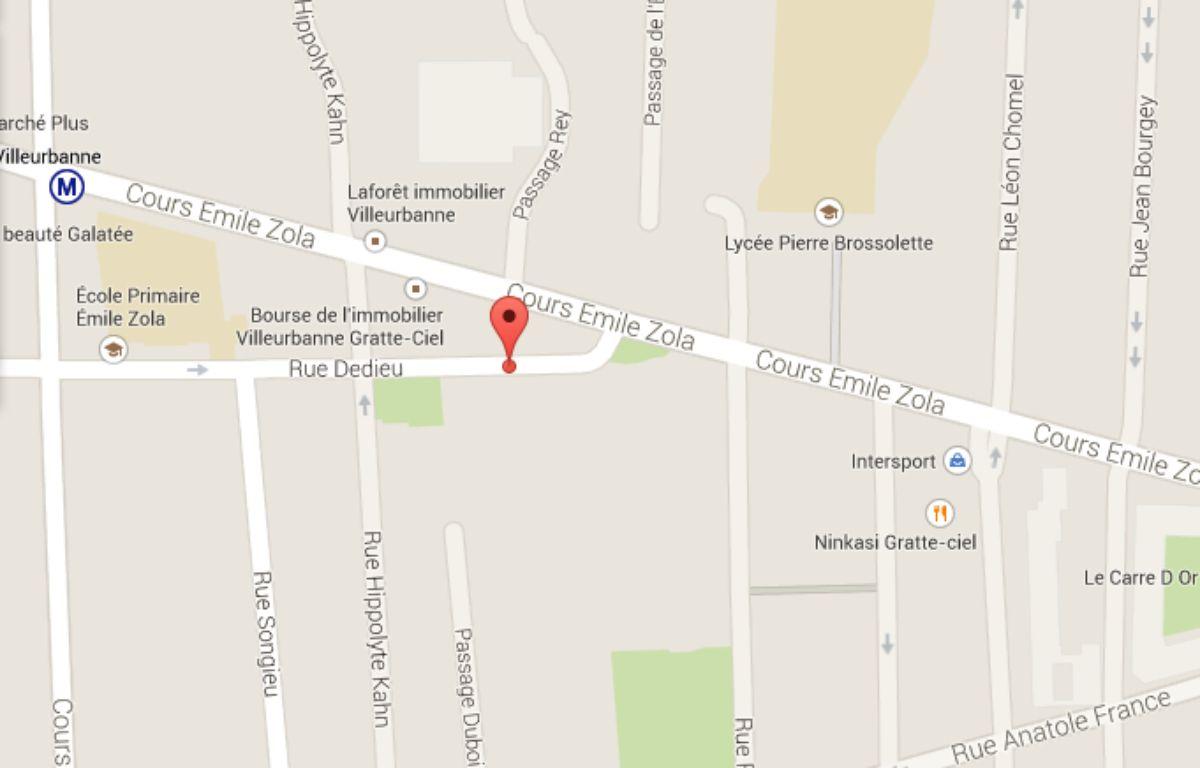 Google Map rue Dedieu à Villeurbanne – Google map