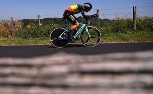 Wout Van Aert a lourdement chuté lors du contre-la-montre du Tour de France.