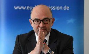 Le commissaire européen Pierre Moscovici, le 18 mai 2015 à Berlin