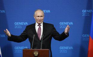 Vladimir Poutine a tenu une conférence de presse à la sortie de son sommet avec Joe Biden
