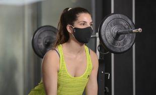 Le masque ViralStop développé pour les sportifs par la société Proneem.