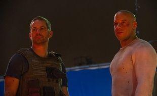 Paul Walker et Vin Diesel dans «Fast & Furious 7».