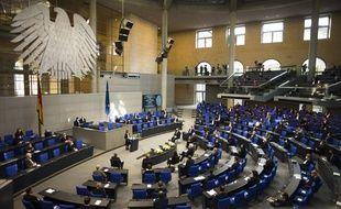 Dans l'hémicycle su Bundestag à Berlin. (illustration)