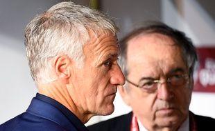 Didier Deschamps et Noël Le Graët lors du match des Bleus en Turquie.