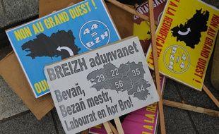 Lors d'une manifestation pour la réunification de la Bretagne