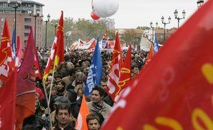 Illustration d'une manifestation unitaire a Toulouse.