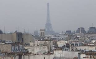 La pollution de l'air à Paris, illustration.