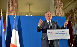 François Bayrou, en conférence de presse au ministère de la Justice, le 1er juin 2017 à Paris.