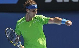 Rafael Nadal lors de sa victoire en huitièmes de finale face à Feliciano Lopez