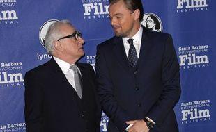 Le réalisateur Martin Scorsese et l'acteur Leonardo DiCaprio au 29e Festival International du Film de Santa Barbara