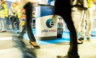 Un stand de Pôle emploi, le 28 mai 2015 à une foire à Lille