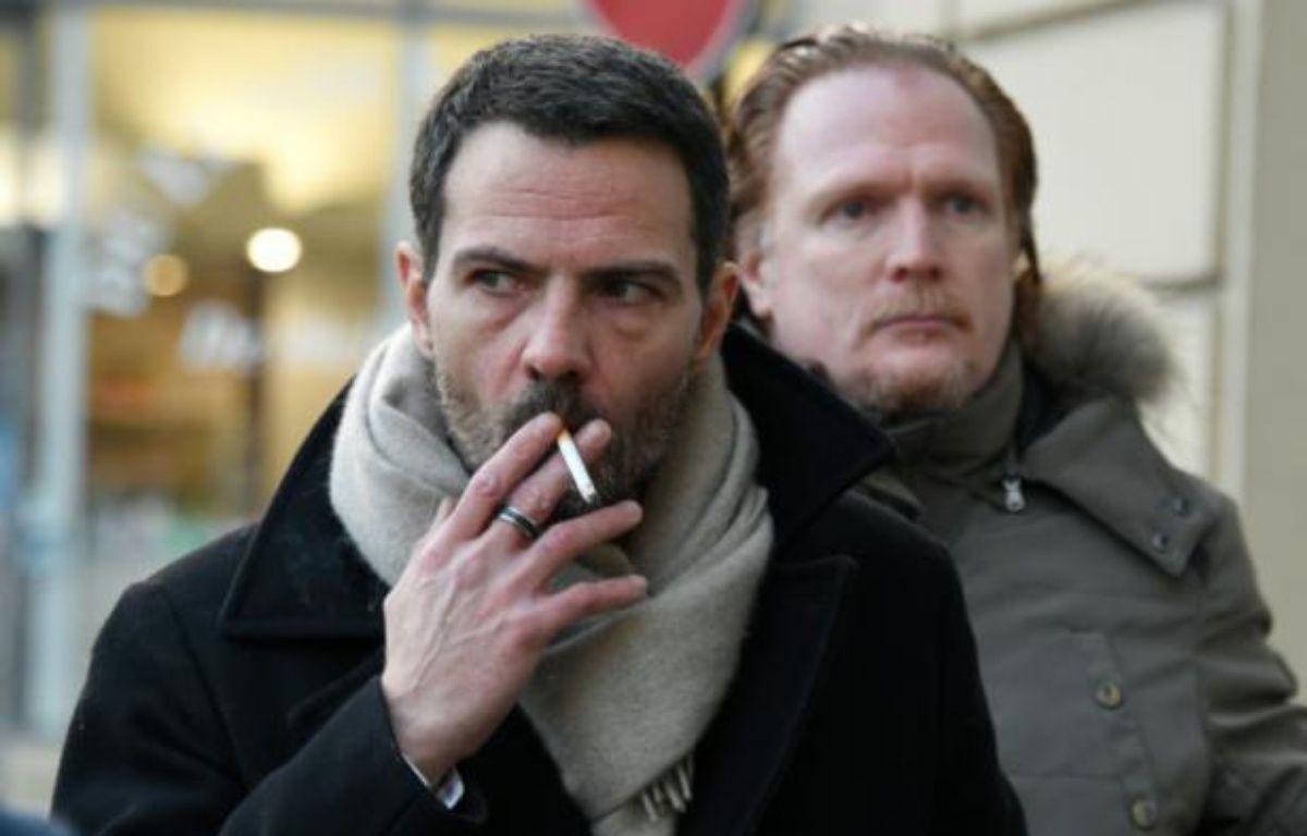 Jérôme Kerviel et son avocat Benoit Pruvost à leur arrivée le 20 janvier 2016 au palais de justice à Versailles – DOMINIQUE FAGET AFP