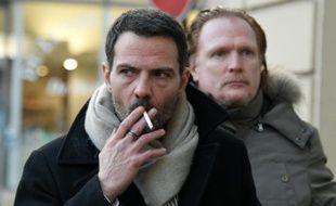 Jérôme Kerviel et son avocat Benoit Pruvost à leur arrivée le 20 janvier 2016 au palais de justice à Versailles