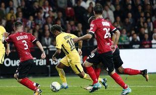 Guingamp face au PSG de Neymar, le 13 août 2017.