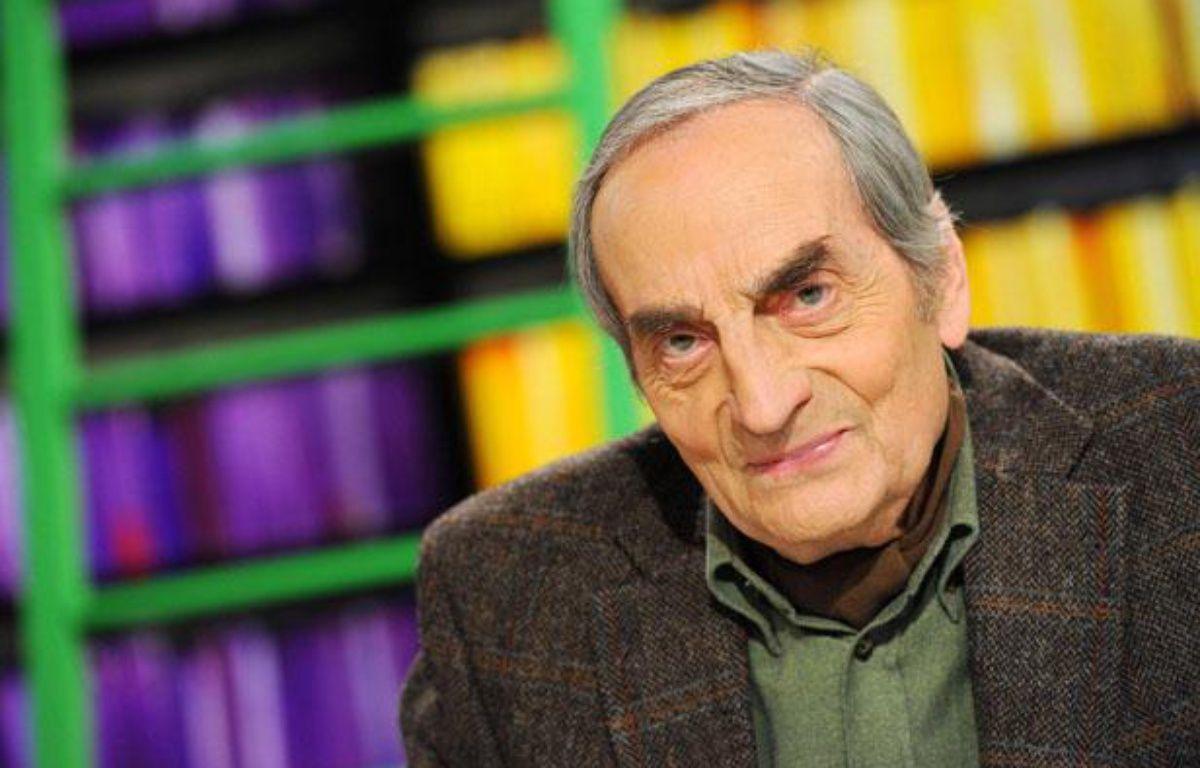 L'écrivain et poète français Charles Juliet, en février 2012. – BALTEL/SIPA