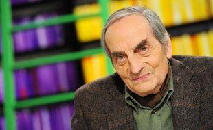 L'écrivain et poète français Charles Juliet, en février 2012.