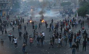 A Bagdad, les autorités irakiennes ont tiré à balles réelles contre des manifestants le 2 octobre 2019.